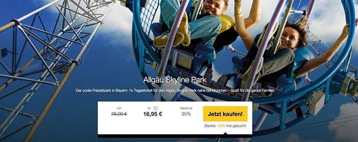 Allgaeu Park Allgäu Skyline Park Tagesticket für 16,95€ (statt 26€)