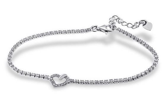 Armband Herz Bis  70% auf ausgewählten Diamant Schmuck zum Valentinstag als Amazon Tagesangebot