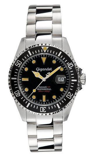 Gigandet Professional Automatik (Miyota Kaliber) Taucher Edelstahl Herren Uhr für 98,01€
