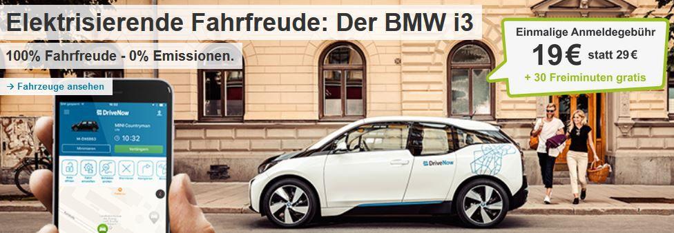 BMW i3 Drive Now   für Neukunden statt 29€ für 19,99€ inkl. 30 Freiminuten