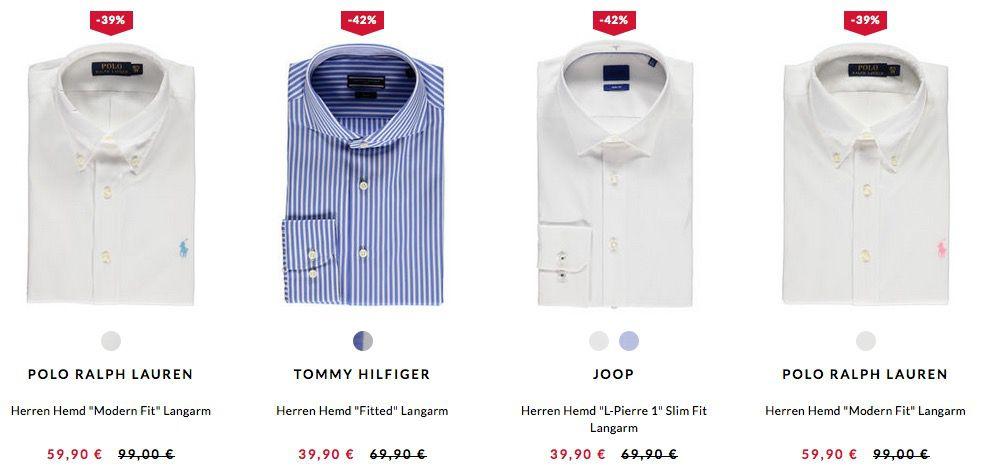 Hemden Sale bei engelhorn + VSK frei ab 60€   Tommy Hilfiger, Eterna, Boss, uvm.