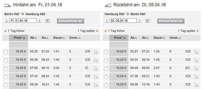 Bildschirmfoto 2016 02 11 um 10.21.23 Deutsche Bahn Tickets ab 19€ pro Strecke