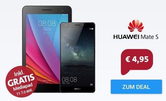 Huawei Mate S + MediaPad T1 + Otelo Allnet Flat + 1GB Daten für 19,48€ mtl.