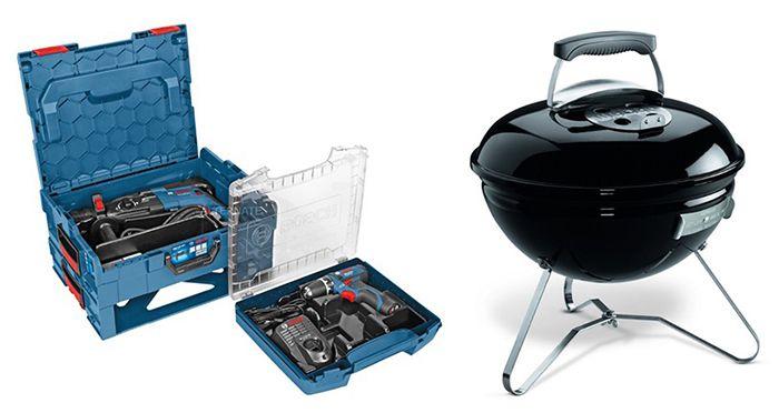 Bosch GBH 2 28 DFV Bosch GBH 2 28 DFV Bohrhammer + Akku Bohrschrauber + Weber Grill für 284,99€ (statt 325€)