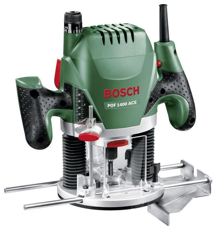 Bosch POF 1400 ACE mit Nutfräser (Ø 8 mm) + Absaugadapter + Koffer für 93,99€