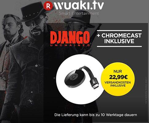 Chromecast 2 + Django Unchained für 22,99€