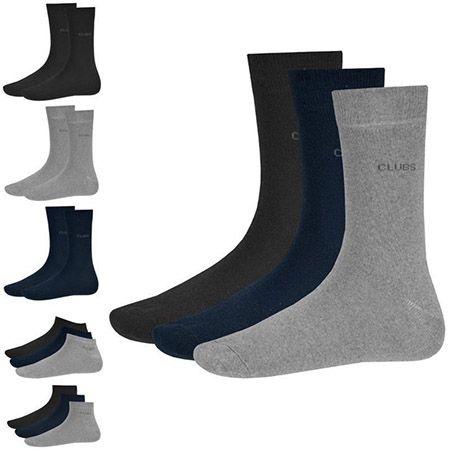 Clubs Business , Quarter  oder Sneaker Socken im 12er Pack für je 9,99€