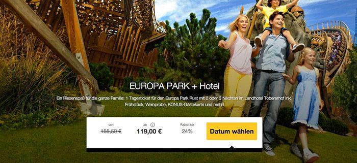 Europa Park Rust + 2 ÜN im 3* Hotel  mit Frühstück ab 119€ p.P.