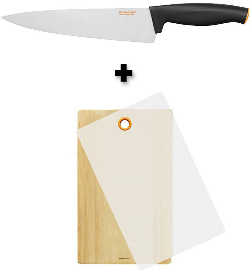Fiskars 2 teiliges Bundle   Functional Form Kochmesser 20cm + FF Schneidstation für 19,95€