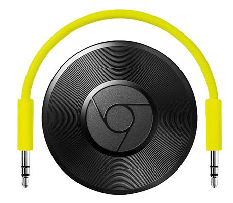 Google Chromecast Audio + 3 Monate: 500 MB Daten + 3 Hörbücher für Gesamt 2,95€