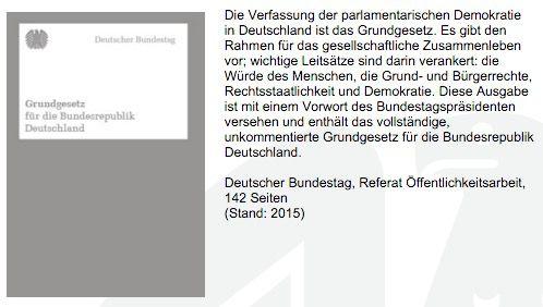 Gratis Grundgesetz für die Bundesrepublik Deutschland