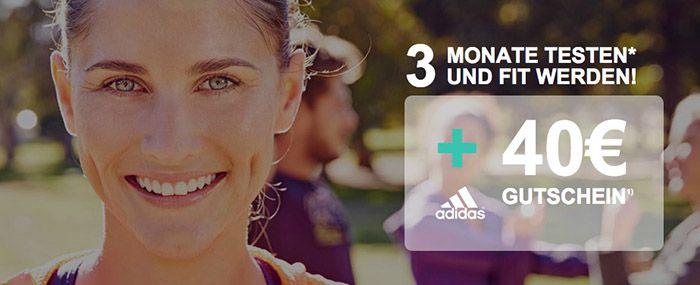 3 Monate Gymondo für 26,97€ + 40€ adidas Gutschein