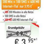 Vodafone mit 200 Min. in alle dt. Netze + 100SMS + 400MB für effektiv 2,70€ mtl. – Knaller