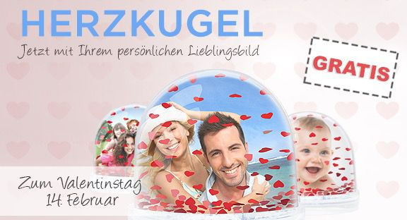 Herzkugel mit eigenem Foto für 4,99€   perfekt zum Valentinstag?