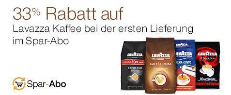 Lavazza Kaffee mit 33% Rabatt Amazon Sparabo Lieferung   Günstig Lavazza Kaffee