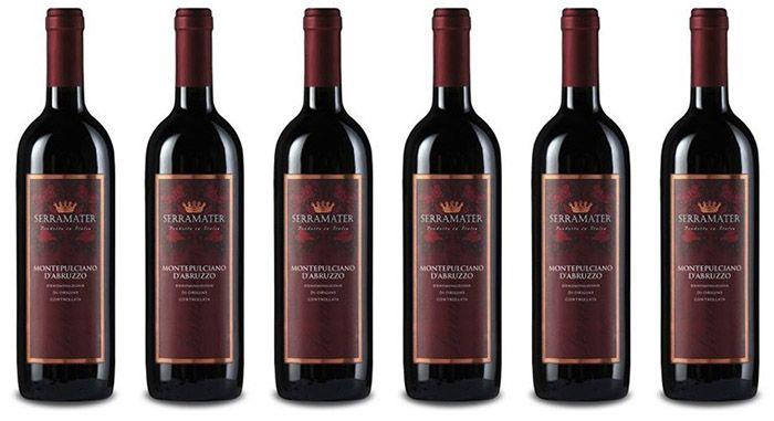 6 Flaschen Serramater Montepulciano dAbruzzo für 28,89€