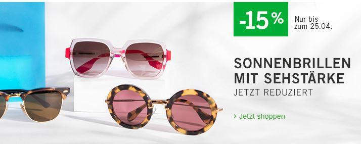 15% Gutschein auf Sonnenbrillen mit Sehstärke + VSK frei @ Mister Spex