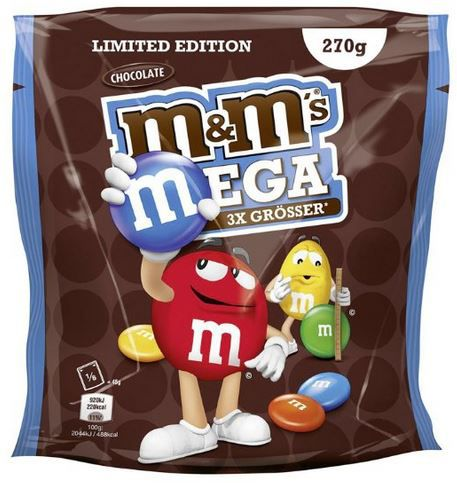 M&Ms MEGA Chocolate   Limited Edition: 5 Beutel (5 x 270 g) ab 10,99€