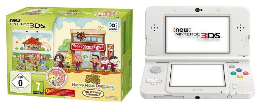 New Nintendo 3DS Konsole + Animal Crossing Happy Home Designer + Zierblende für 139€ (statt 167€)