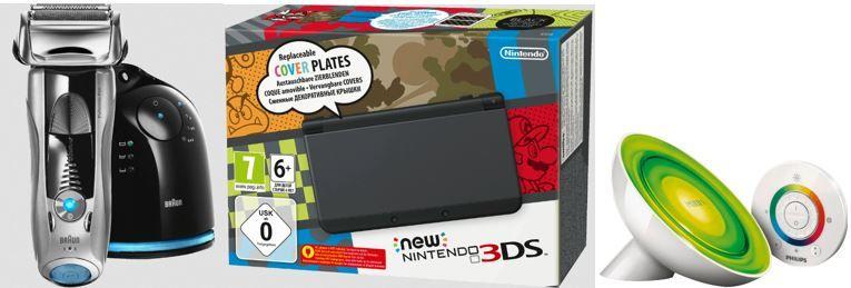 Nintendo new 3DS BRAUN Pulsonic Pro 745cc 3, Rasierer statt 184€ für 149€ bei den SATURN Online Offers