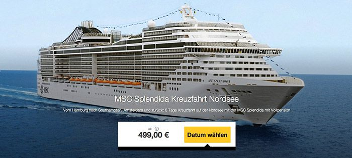 8 Tage Nordsee Kreuzfahrt mit Vollpension ab 499€ p.P.   TOP!
