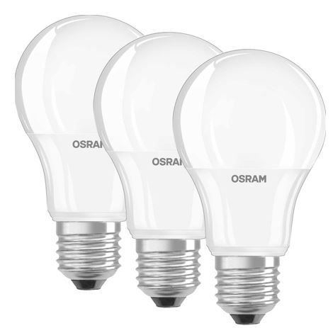 Osram   6er Set 9W LED Lampe E27 warmweiß für 19,90€