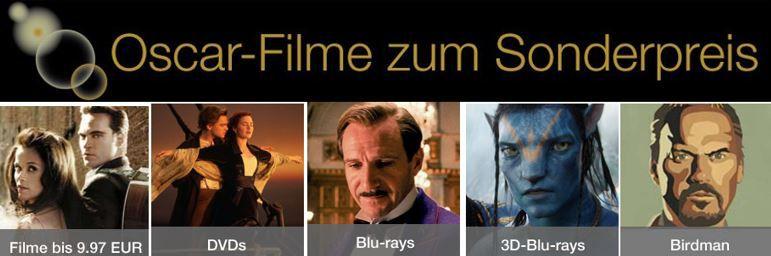 Oscar Filme zum Sonderpreis @ Amazon
