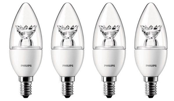 4er Pack Philips E14 3w LED Leuchtmittel für 11€ (statt 16€)