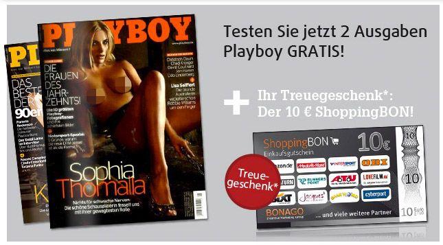 2 Ausgaben Playboy gratis   Kündigung notwendig!