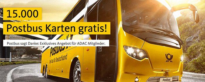 Gratis Postbus Karten für ADAC Mitglieder (statt 25€)