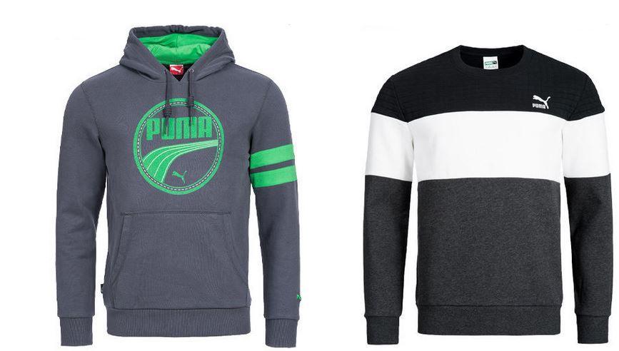Puma Herren Swatshirts PUMA   Herren Sweatjacken und Hoodies für je 25,99€