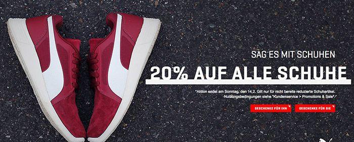 Puma Schuhe 20% Rabatt auf ALLE Puma Schuhe   nicht auf reduzierte