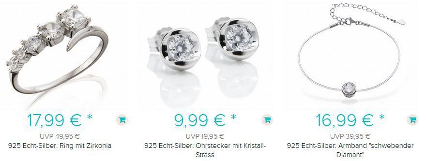 Silvity echt Silber Collier (925er) mit Strass Stein ab 4,99€ + Versand + 5€ Gutschein