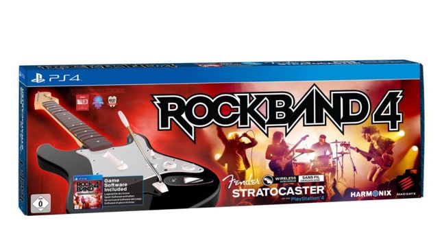 Rock Band 4 + Wireless Fender Stratocaster PS4 Bundle ab 34,99€ (statt 69€)