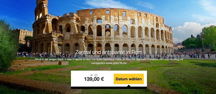 Rom Ausflug 3 4 Tage Rom im Suite Gästehaus mit Frühstück + Flügen ab 139€ p.P.