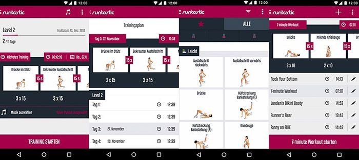 Runtastic Butt Trainer Android App gratis