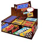 Mars Topsellerbox – Snickers, Twix, Mars, Bounty M&M's Peanut 72 Riegel für 24€