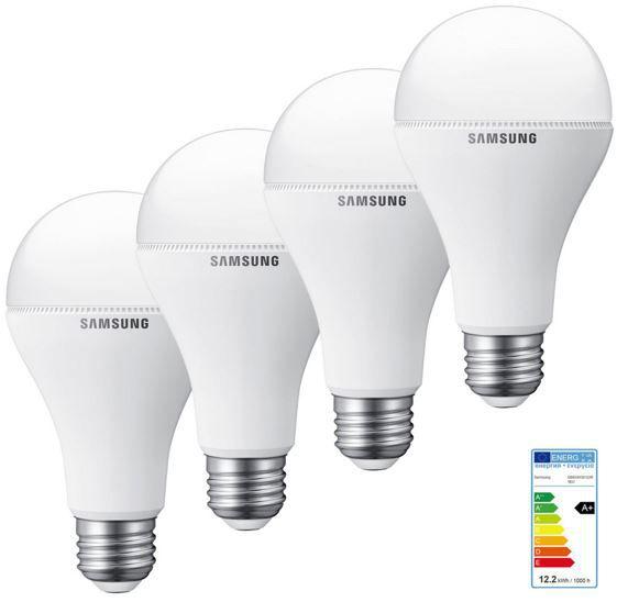 Samsung LED Leuchtmittel   4er Set 12,5 Watt mit E27 für 13,99€