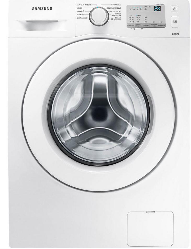SAMSUNG WW 80 J 3473 KW/EG   Waschmaschine (8 kg, 1400 U/Min.) für 299€
