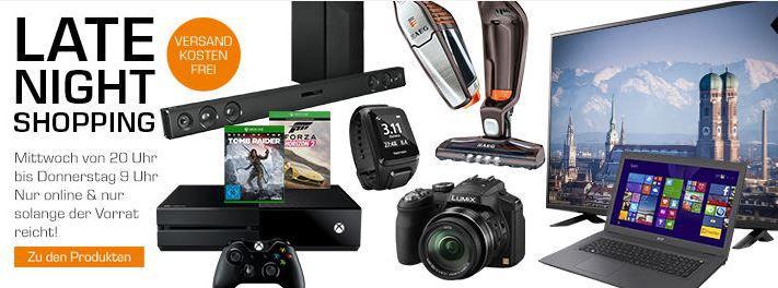 MICROSOFT Xbox One + Forza Horizon 2 + Rise of the Tomb Raider für 299€ im Saturn Late Night Shopping