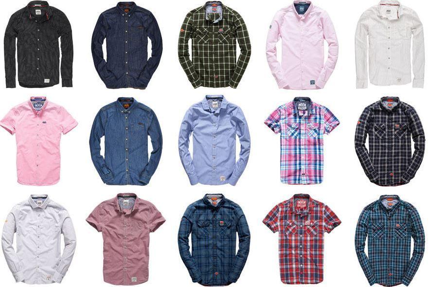 Superdry Herren Hemden Superdry Herren Hemden   neue Modelle für je 19,96€