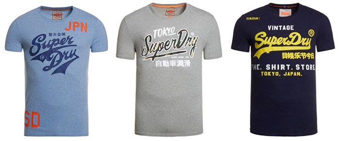 Superdry T Shirts 3 Superdry Artikel kaufen und nur 2 bezahlen