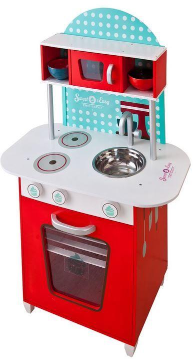 Sweet Holzspielküche beluga Spielwaren   Holzspielküche Sweet und Easy statt 82€ für 39,14€