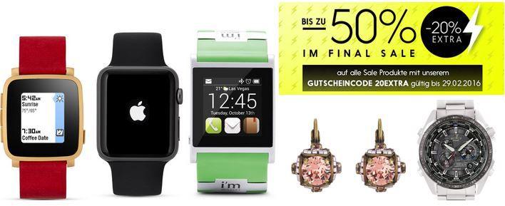 Valmano Uhren und Schmuck Sale Valmano Uhren   Schmuck Sale mit bis zu 50% Rabatt + 10€ Gutschein +  VSK frei ab 39€ bis Mitternacht