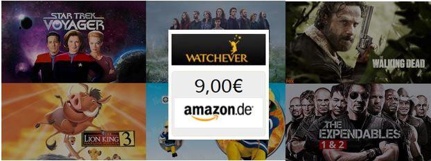 Watchever für 3 Monate testen für 2,99€ mtl. + 9€ Amazon Gutschein geschenkt dazu