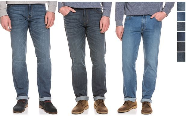 Wrangler Jeans Texas Wrangler Arizona   Herren Stretch Jeans Straight Fit für 39,95€