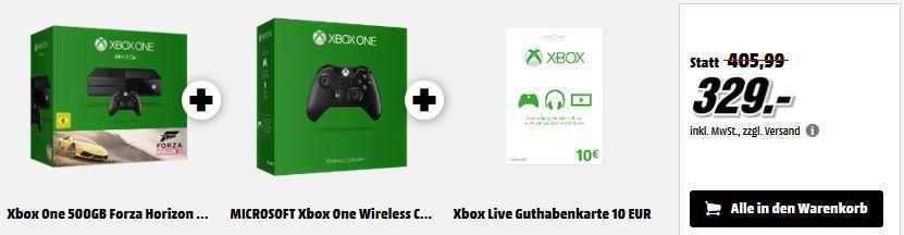 Xbox One Bundle   Logitech G29 Driving Force in der Media Markt Gaming Tiefpreisschicht
