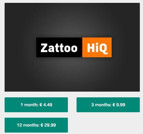 1 Jahr Zattoo HiQ (Premium) für 29,99€ (statt 99€)   mit spanischem VPN!