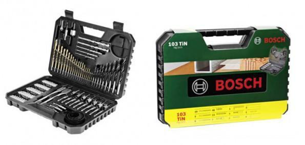 BOSCH V Line Titanium Bohrer und Bit Set (103 teilig) für 29,95€