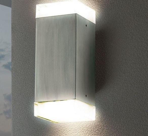Eglo 78055   LED Edelstahl Wand Up&Down Lampe mit 5 Watt für 19,95€